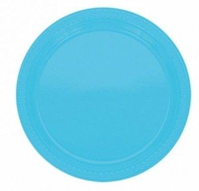 Caribisch Blauw Plastic Borden 10st