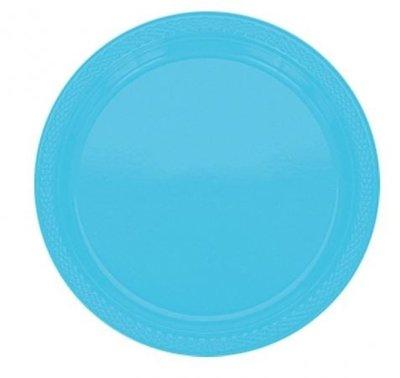 Caribisch Blauw Plastic Borden 20st