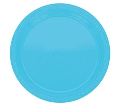Caribisch Blauw Plastic Dessert Borden 20st
