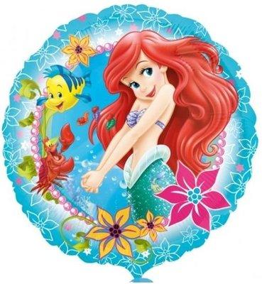 De Kleine Zeemeermin Folie Ballon 45cm