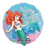 De Kleine Zeemeermin 'Happy Birthday' Folie Ballon 45cm