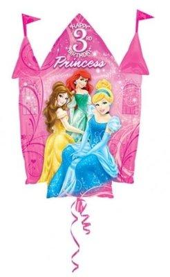 Disney Prinsessen Sprankelend Kasteel '3 jaar' Folie Ballon 88cm