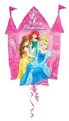 Disney Prinsessen Sprankelend Kasteel '4 jaar' Folie Ballon 88cm