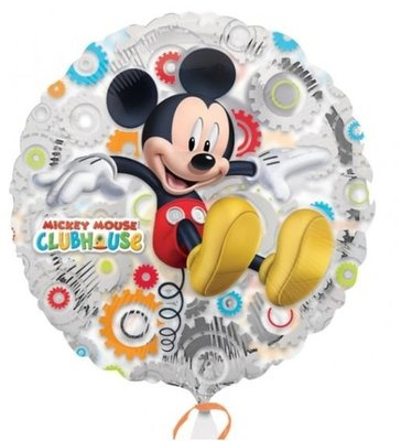 Mickey Mouse Clubhuis Transparante Metallic Folie Ballon 45cm