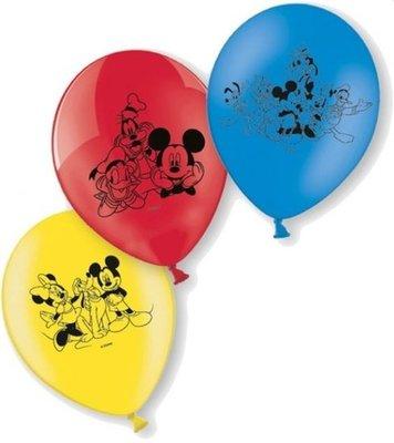 Mickey Mouse en Vrienden Latex Ballonnen 6st