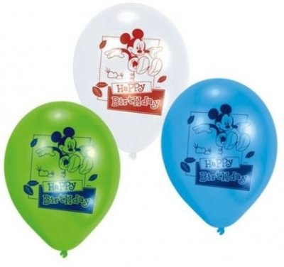 Mickey Mouse 'Happy Birthday' Latex Ballonnen 6st