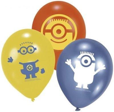 Minions Latex Ballonnen 6st