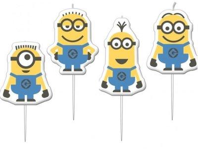 Minions Mini Prik Kaarsjes 4st