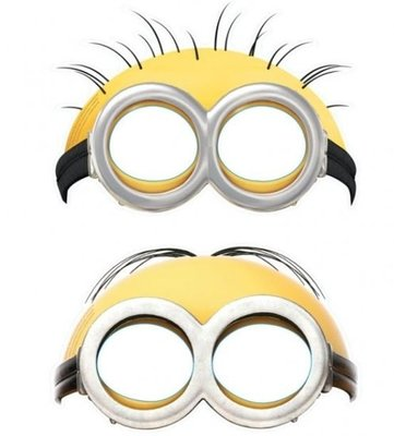 Minions Oogmaskers Karton 6st