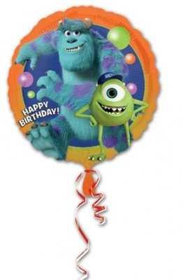 Monsters University Happy Birthday Ballon 45cm