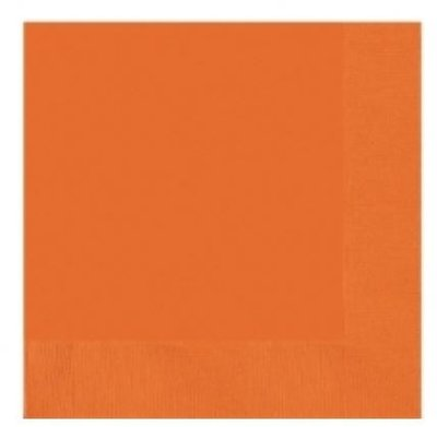 Sinaasappel Oranje Drank Servetten 20st