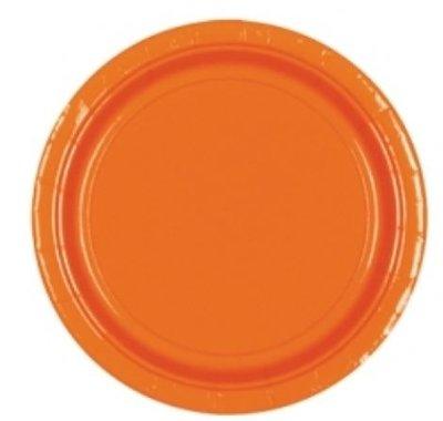 Sinaasappel Oranje Papieren Dessert Borden 8st