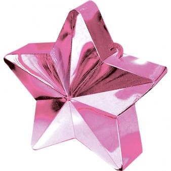 Roze Ster Ballongewichtje
