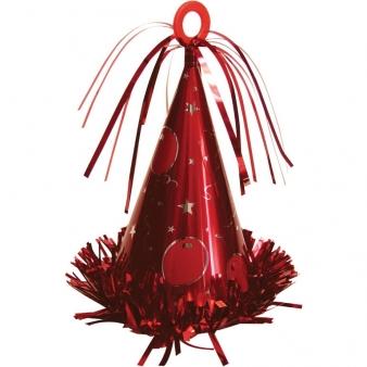 Rood Feesthoedje Ballongewichtje