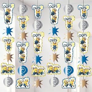 Minions Bananarama Hangdecoratie 6st