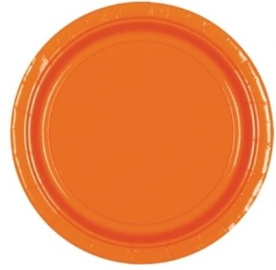 Sinaasappel Oranje Papieren Borden 8st