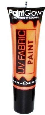 Oranje Neon UV Kleding Verf 10ml