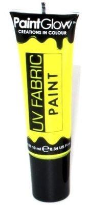 Geel Neon UV Kleding Verf 10ml