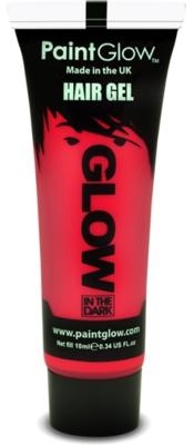 Rood Glow-in-the-Dark Haar Gel 10ml