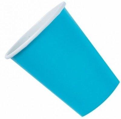 Caribisch Blauw Plastic Bekers 10st
