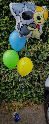 Woezel en Pip Klein Helium Tros Ballonnen Boeket