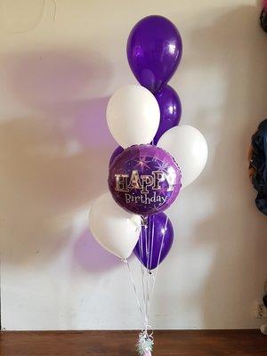 Paars 'Happy Birthday' Helium Tros Ballonnen Boeket
