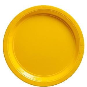 Zonneschijn Geel Papieren Borden 8st
