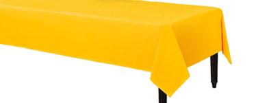 Zonneschijn Geel Plastic Tafelkleed 140x280cm