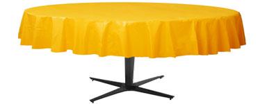 Zonneschijn Geel Rond Plastic Tafelkleed 210cm