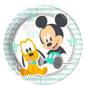 Baby Mickey Papieren Borden 8st