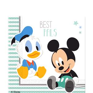 Baby Mickey Tafel Servetten 20st