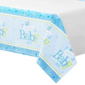 Welkom Baby Jongen Plastic Tafelkleed 120x180cm