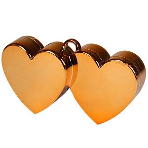 Oranje Dubbele Harten Ballongewichtje