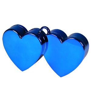 Blauw Dubbele Harten Ballongewichtje