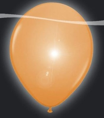 Ballonnen met LEDverlichting Latex Oranje 5st