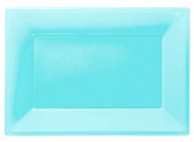 Caribisch Blauw Serveer Schalen 3st