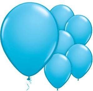 Qualatex Robin's Egg Blue Ballonnen Helder Blauw 100st 27cm