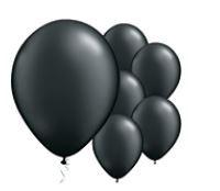 Qualatex Pearl Black Balloons Parelmoer Zwart Ballonnen 100st 27cm