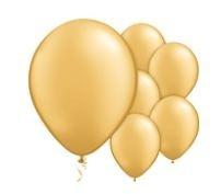 Qualatex Pearl Metallic Gold Balloons Parelmoer metallic Goud Ballonnen 100st 27cm