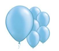 Qualatex Pearl Azure Balloons Parelmoer Azuur Blauw Ballonnen 100st 27cm