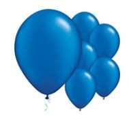 Qualatex Pearl Sapphire Blue Balloons Parelmoer Saffier Blauw Ballonnen 100st 27cm