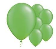 Qualatex Pearl Lime Green Balloons Parelmoer Lime Groen Ballonnen 100st 12cm