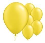 Qualatex Pearl Citrine Yellow Balloons Parelmoer Citrus Geel Ballonnen 100st 27cm