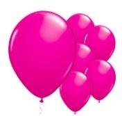 Qualatex Wild Berry Pink Balloons Wilde Bessen Roze 100st 27cm