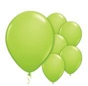 Qualatex Fashion Lime Green Balloons Stijlvol Lime Groen Ballonnen 100st 27cm