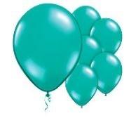 Qialatex Fashion Teal Tropical Balloons Stijlvol Blauw-groene Tropisch Ballonnen 100st 12cm