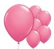 Qualatex Fashion Rose Balloons Stijlvol Roze Ballonnen 100st 27cm
