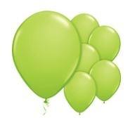 Qualatex Jewel Lime Green Balloons Juweel Lime Groen Ballonnen 100st 27cm