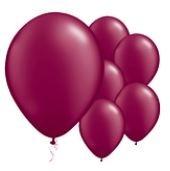 Qualatex Jewel Burgundy Purple Balloons Juweel Burgundy Paars Ballonnen 100st 27cm
