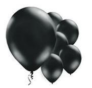 Qualatex Jewel Black Balloons Juweel Zwart Ballonnen 100st 12cm